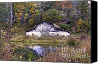 Valle Crucis Canvas Prints - A is for Autumn Canvas Print by Benanne Stiens