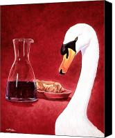 Swan Canvas Prints - A jug of wine... Canvas Print by Will Bullas