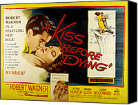 1950s Poster Art Canvas Prints - A Kiss Before Dying, Robert Wagner Canvas Print by Everett