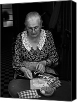 Bobbin Canvas Prints - A lacemaker in Bruges Canvas Print by RicardMN Photography