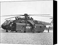 1969 Canvas Prints - A Large Ch-54 Skycrane Helicopter Used Canvas Print by Stocktrek Images