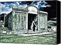 James Griffin Canvas Prints - A Lonely Phantom In A Forgotten New Orleans Cemetery Canvas Print by James Griffin