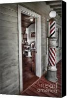 Barber Canvas Prints - A Look Into The Past Canvas Print by Susan Candelario