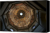 Octagonal Canvas Prints - A Look Up At The Inside Of The Duomo Canvas Print by Heather Perry