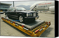 Flyers Canvas Prints - A Luxury Bentley Unloaded From An Canvas Print by Justin Guariglia