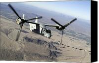 Osprey Canvas Prints - A Marine Corps Mv-22 Osprey Prepares Canvas Print by Stocktrek Images