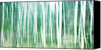 Forest Canvas Prints - A Matter Of Blues Canvas Print by Priska Wettstein