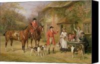1842 Canvas Prints - A Meeting at the Three Pigeons Canvas Print by Heywood Hardy
