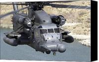 Aircraft Photo Canvas Prints - A Mh-53j Pave Low Iiie Heavy-lift Canvas Print by Stocktrek Images