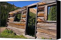 Log Cabins Canvas Prints - A Miner Perspective Canvas Print by Cynthia Cox Cottam