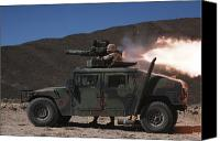 Gunfire Canvas Prints - A Missileman Firing A Bgm-71 Tow Canvas Print by Stocktrek Images