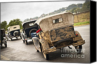 Antique Automobiles Canvas Prints - A model procession Canvas Print by David Lade