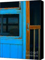 Screen Doors Photo Canvas Prints - A Mom and Pop Stay on Topsail Island Canvas Print by Julie Dant