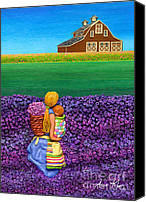 Barn Sculpture Canvas Prints - A MOMENT - Crop Of Original - To See Complete Artwork Click View All Canvas Print by Anne Klar