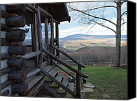 Farm In Woods Photographs Canvas Prints - A Mountain View Canvas Print by Robert Margetts