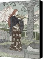 Watercolor On Paper Canvas Prints - A Musician Canvas Print by Eugene Grasset