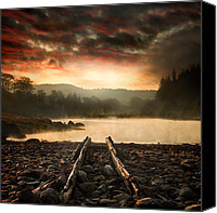 Sky Pyrography Canvas Prints - A New Beginning Canvas Print by Ian David Soar