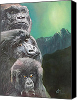Gorilla Painting Canvas Prints - A New Dawn Canvas Print by Antonio Marchese