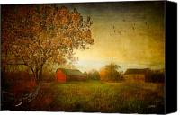 Barn Digital Art Canvas Prints - A New Dawn Canvas Print by Michael Petrizzo