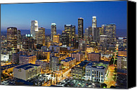 Skyline Canvas Prints - A night in L A Canvas Print by Kelley King