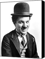 Publicity Shot Canvas Prints - A Night Out, Charlie Chaplin, Aka Canvas Print by Everett