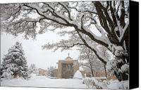 Santa Fe Canvas Prints - A Peaceful Winter Scene Canvas Print by Ralph Lee Hopkins