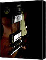 Epiphone Canvas Prints - A Perspective in Les Paul  Canvas Print by Steven  Digman