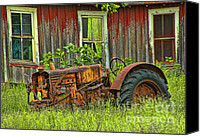 Barn Windows Canvas Prints - A Piece of Americana Canvas Print by Iris Greenwell