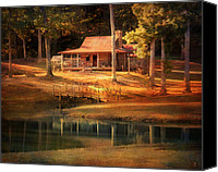 Log Cabin Photo Canvas Prints - A Place To Dream Canvas Print by Jai Johnson