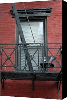 Fire Escape Photo Canvas Prints - A Place To Escape Canvas Print by Frank Mari