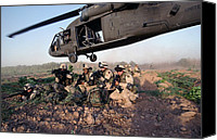 Second Gulf War Canvas Prints - A Quick Response Force Brace Themselves Canvas Print by Everett