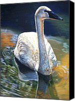 Pond Pastels Canvas Prints - A Quiet Moment Canvas Print by Deb LaFogg-Docherty