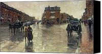 Raining Canvas Prints - A Rainy Day in Boston Canvas Print by Childe Hassam
