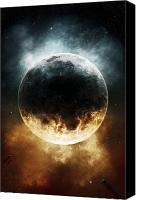Judgment Day Canvas Prints - A Rare Planet Surrounded By A Cloud Canvas Print by Tomasz Dabrowski