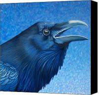 Ravens Canvas Prints - A Ravens Prayer Canvas Print by Brian  Commerford