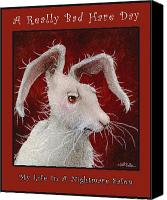 Hare Canvas Prints - A Really Bad Hare Day... Canvas Print by Will Bullas