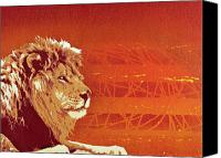 Lion Mixed Media Canvas Prints - A Roaring Lion Kills No Game Canvas Print by Iosua Tai Taeoalii