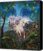 Unicorns Canvas Prints - A Run On The Beach Canvas Print by Steve Roberts