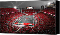 Ohio Canvas Prints - A Scarlet Stage Canvas Print by Kenneth Krolikowski