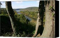 Harpers Ferry Canvas Prints - A Scenic View Of The Potomac River Canvas Print by Stephen St. John