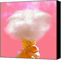 Teg Canvas Prints - A Scoop Of Cloud Please Canvas Print by Casi Wonderland