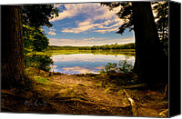 Maine Canvas Prints - A Secret Place Canvas Print by Bob Orsillo