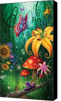 Magic Forest Canvas Prints - A Secret Place Canvas Print by Philip Straub