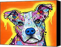 Dean Canvas Prints - A Serious Pit Canvas Print by Dean Russo