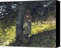 The Shepherdess Canvas Prints - A Shady Spot Canvas Print by Winslow Homer