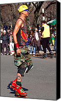 Skate Photo Canvas Prints - A skater in Central Park Canvas Print by RicardMN Photography