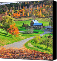 Scenic Roads Canvas Prints - A Sleepy Hollow Autumn Canvas Print by Thomas Schoeller