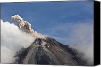 Eruption Canvas Prints - A Small Eruption From The Arenal Canvas Print by Hannele Lahti