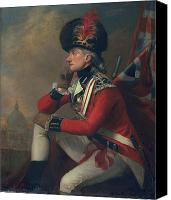 Red Clothing Canvas Prints - A soldier called Major John Andre Canvas Print by English School