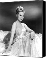 Publicity Shot Canvas Prints - A Song Is Born, Virginia Mayo, 1948 Canvas Print by Everett